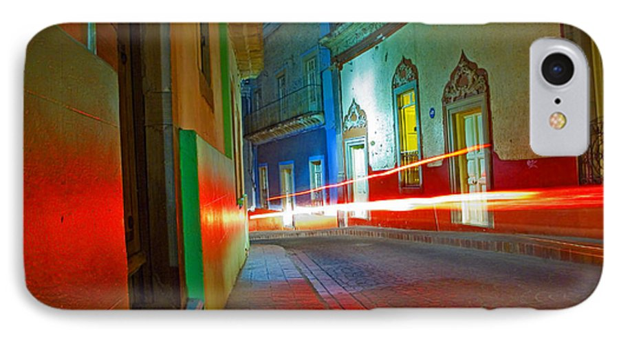 Shadow IPhone 7 Case featuring the photograph Guanajuato Night by Skip Hunt