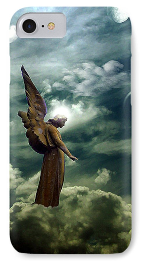 Sky IPhone 7 Case featuring the digital art Guardian Angel by Ruben Flanagan