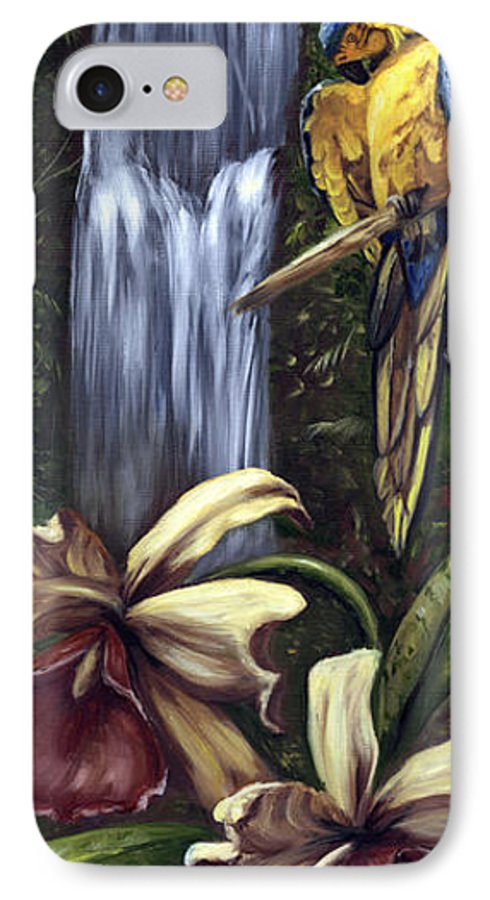 Birds IPhone 7 Case featuring the painting Guardian Of The Falls by Anne Kushnick