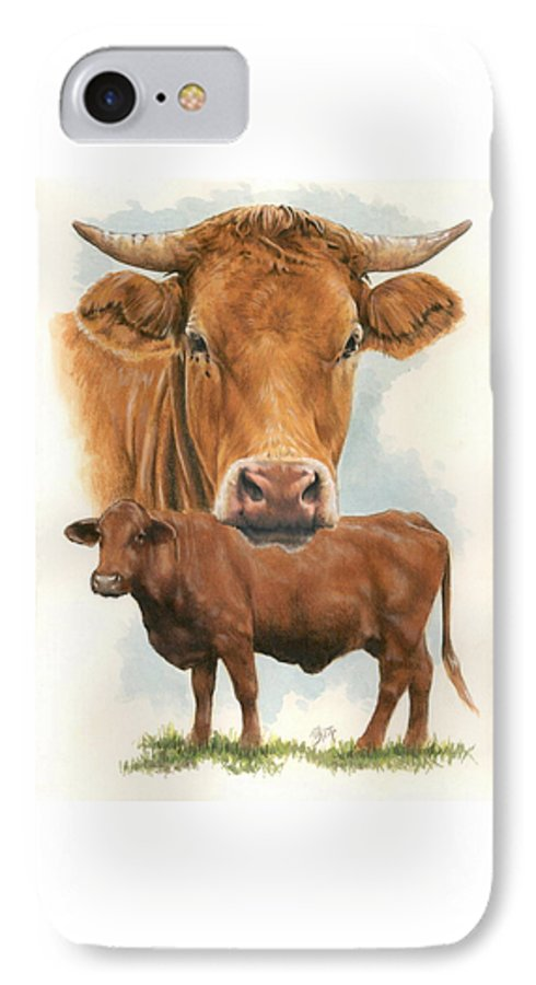 Cow IPhone 7 Case featuring the mixed media Guernsey by Barbara Keith
