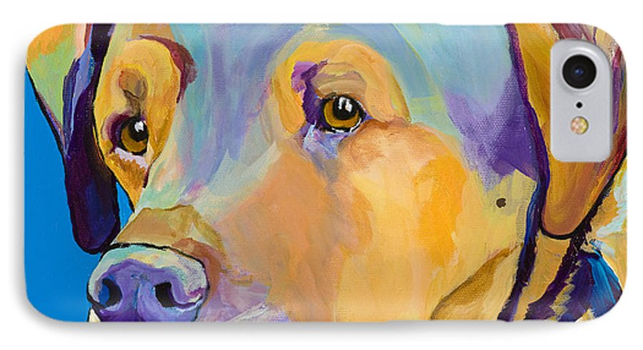 Dog Portrait IPhone 7 Case featuring the painting Gunner by Pat Saunders-White