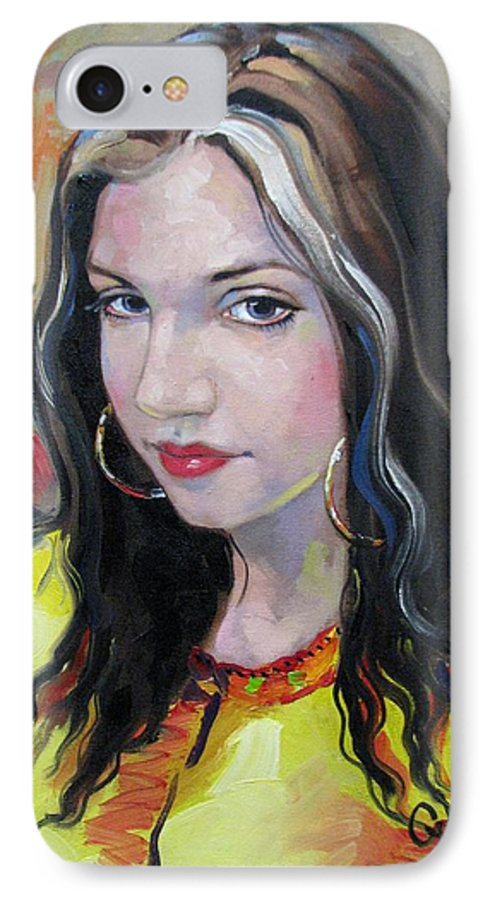 Gypsy IPhone 7 Case featuring the painting Gypsy Girl by Jerrold Carton