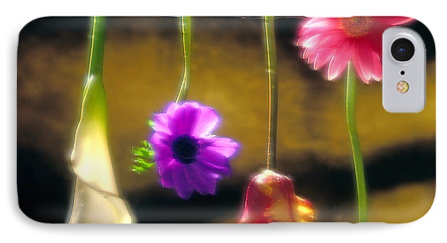 Tulip IPhone 7 Case featuring the photograph Hanging Flowers by Tony Cordoza