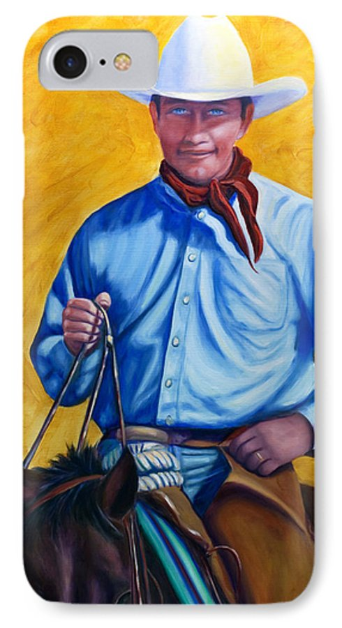 Cowboy IPhone 7 Case featuring the painting Happy Trails by Shannon Grissom