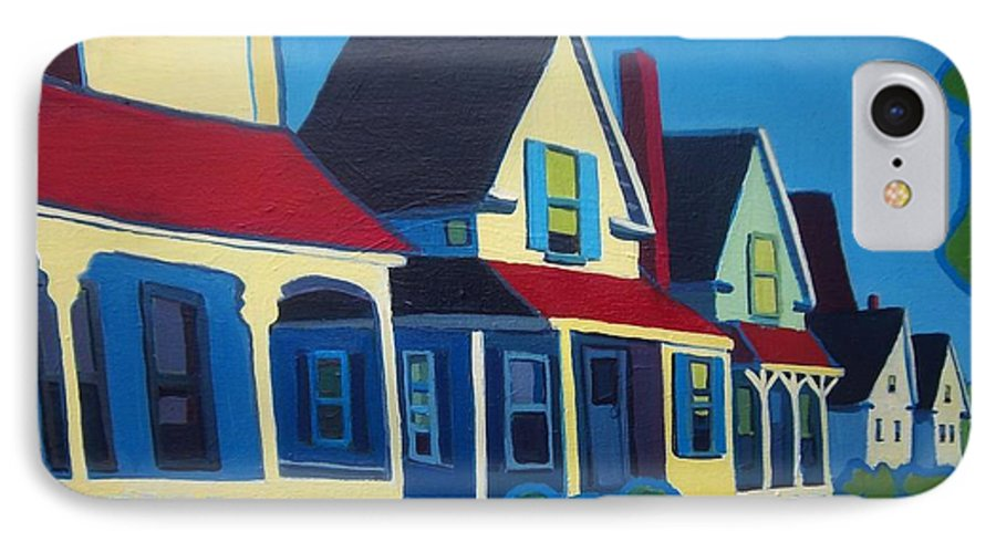 Maine IPhone 7 Case featuring the painting Harpswell Cottages by Debra Bretton Robinson
