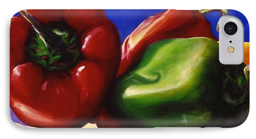 Still Life IPhone 7 Case featuring the painting Harvest Festival Peppers by Shannon Grissom