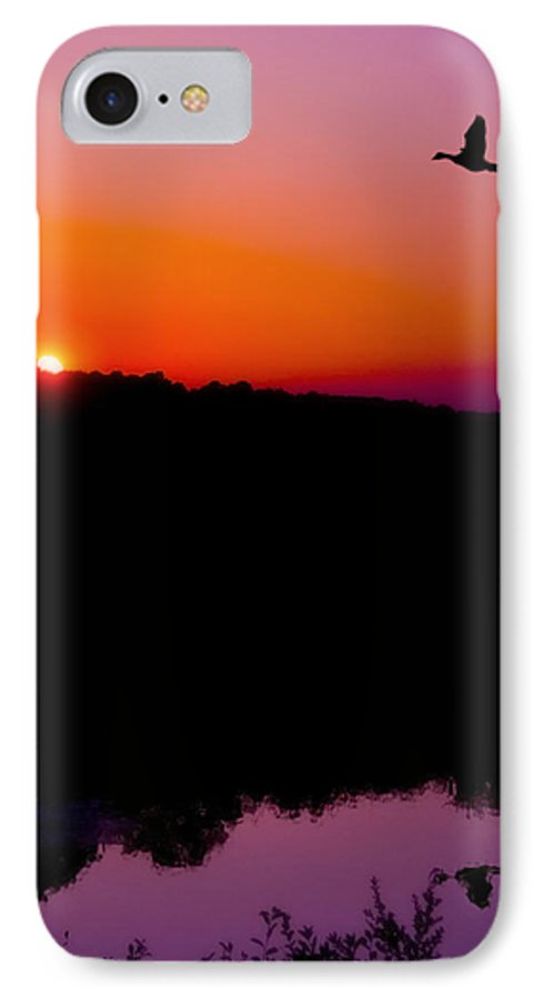 Sunset IPhone 7 Case featuring the photograph Heading Home by Kenneth Krolikowski