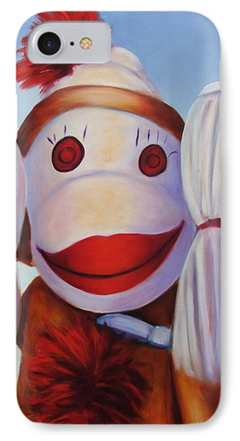 Children IPhone 7 Case featuring the painting Hear No Bad Stuff by Shannon Grissom