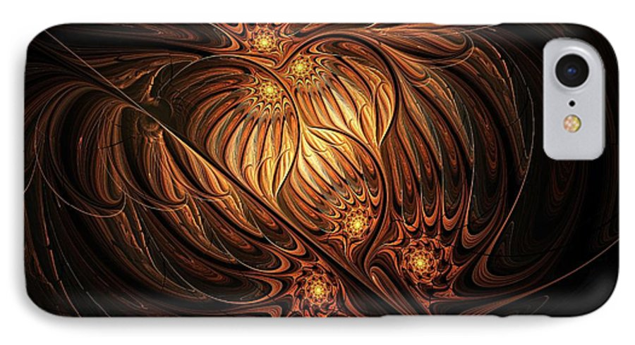 Digital Art IPhone 7 Case featuring the digital art Heavenly Onion by Amanda Moore