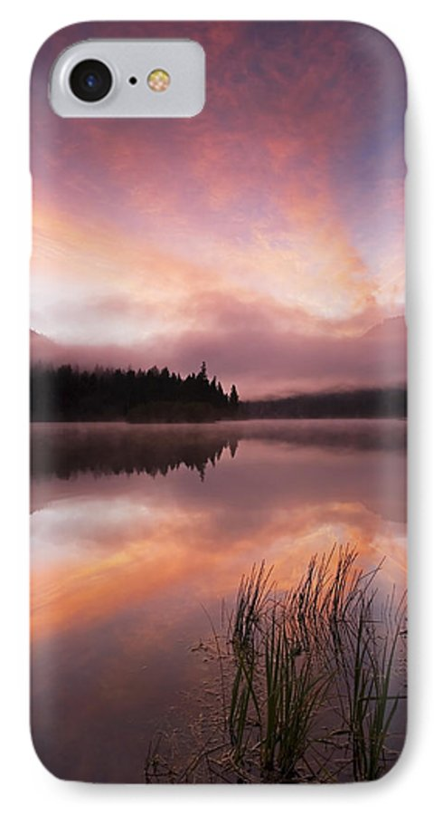 Sunrise IPhone 7 Case featuring the photograph Heavenly Skies by Mike Dawson