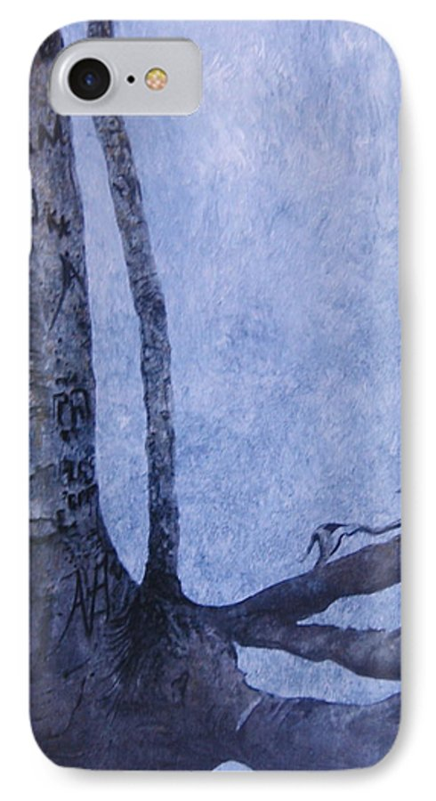 Tree Trunk IPhone Case featuring the painting Hedden Park II by Leah Tomaino