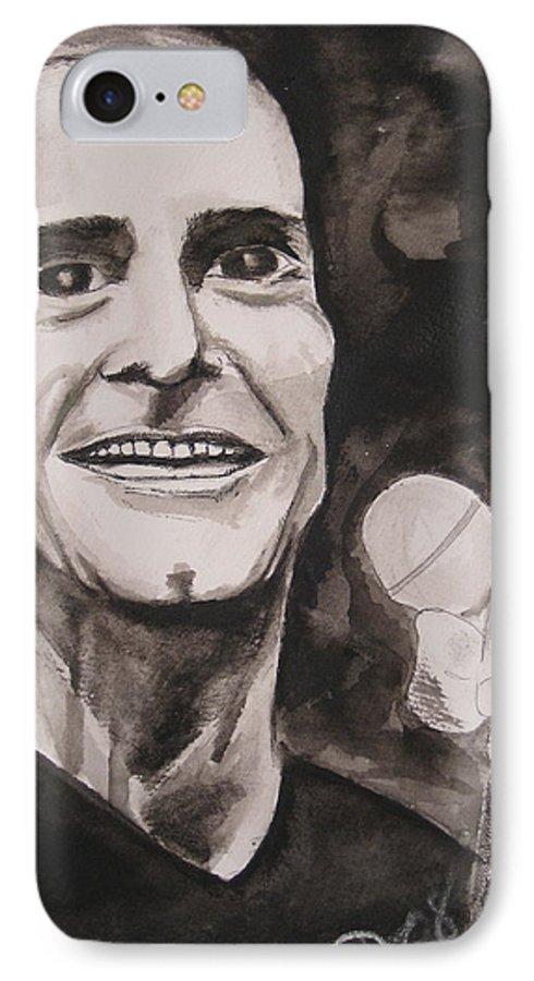 Author Black Darkestartist Flag Henry Ink Musician Panting Portrait Rollins Spoken Watercolor Darkest Artist IPhone 7 Case featuring the painting Henry Rollins by Darkest Artist