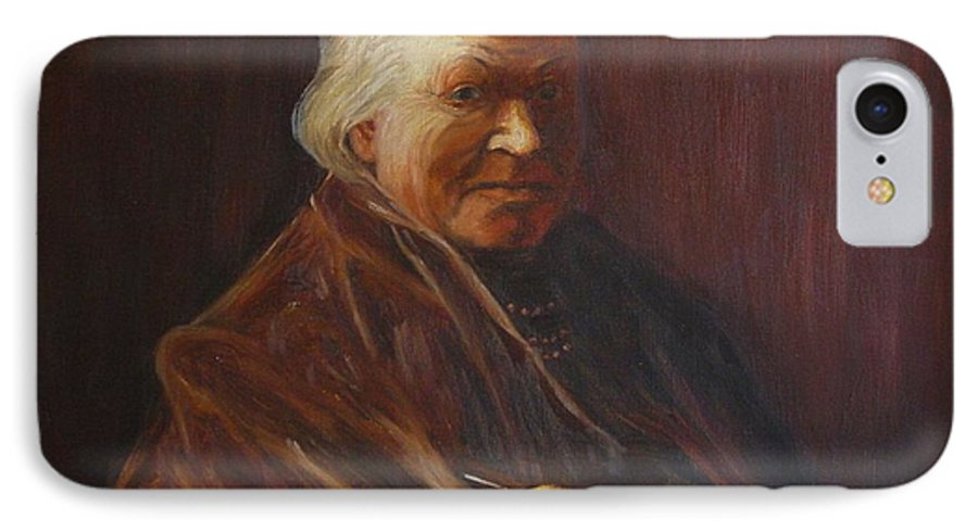 Woman IPhone 7 Case featuring the painting Herbert Abrams Mother by Quwatha Valentine