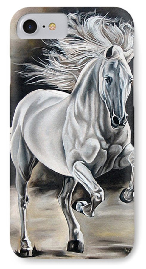 Horse IPhone 7 Case featuring the painting Hereje by Ilse Kleyn