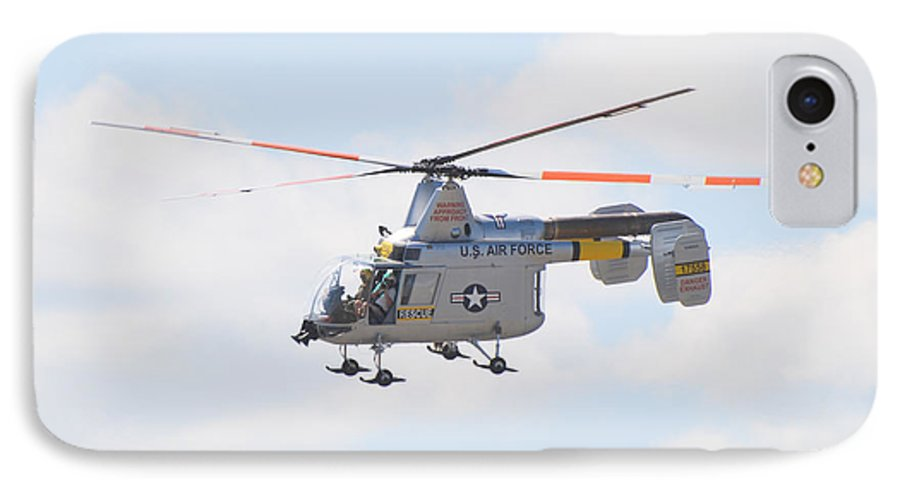 Helicopter IPhone 7 Case featuring the photograph Hh-43b Huskie by Larry Keahey