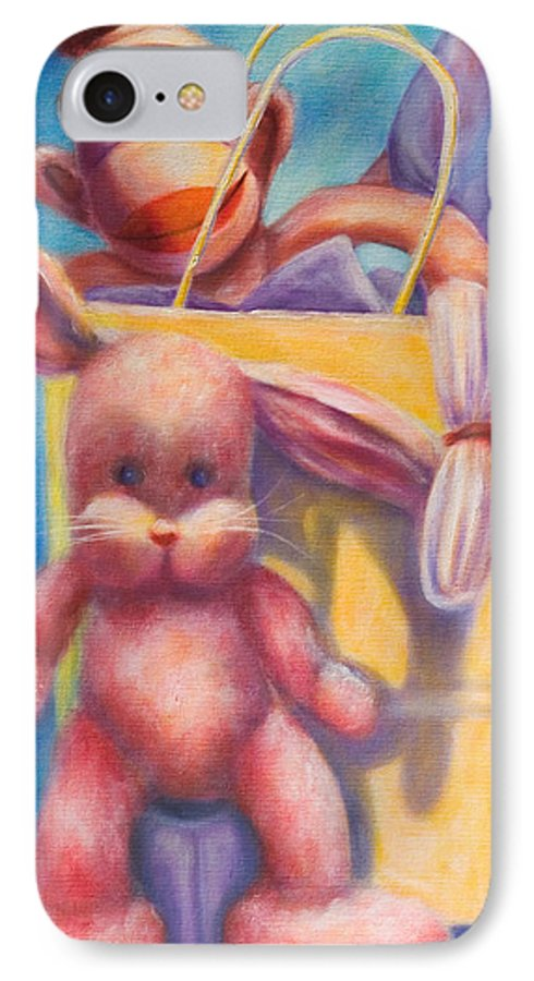 Children IPhone 7 Case featuring the painting Hide And Seek by Shannon Grissom