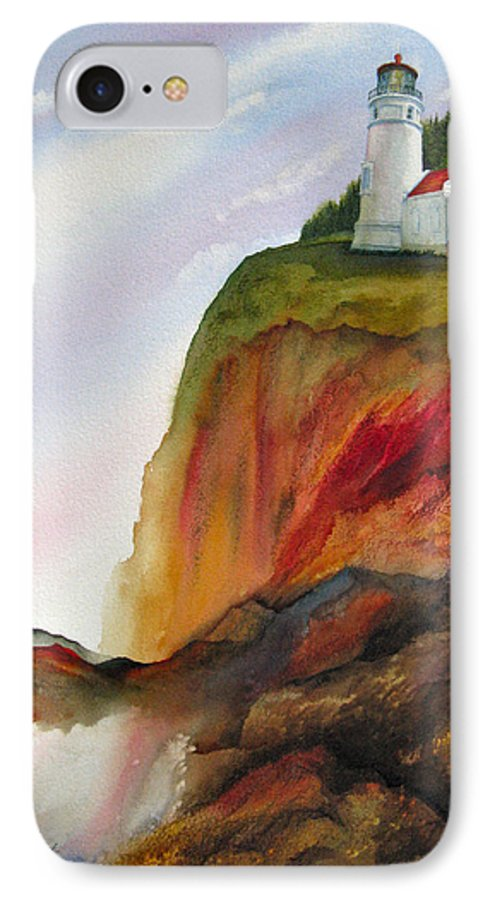Coastal IPhone 7 Case featuring the painting High Ground by Karen Stark