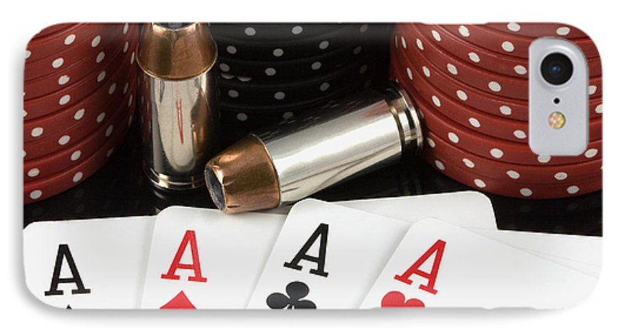 Aces IPhone 7 Case featuring the photograph High Stakes Poker by Al Mueller