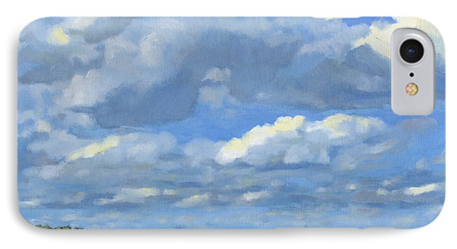 Landscape IPhone 7 Case featuring the painting High Summer by Bruce Morrison