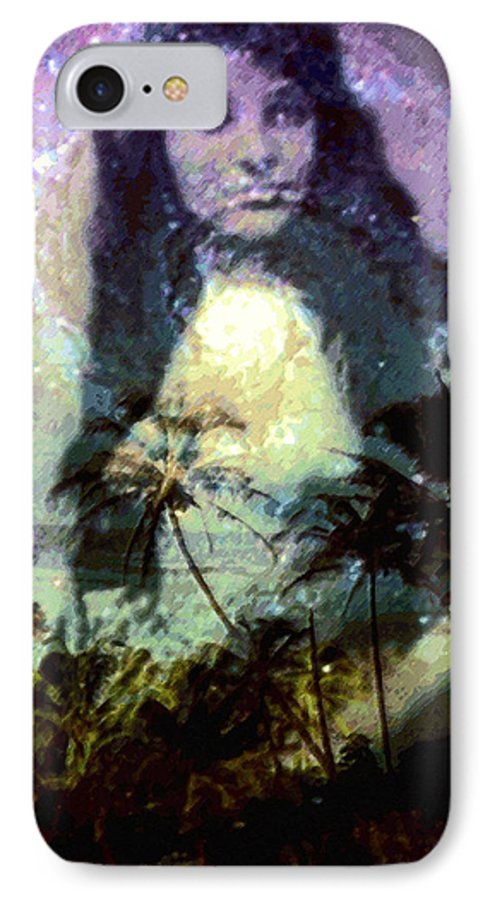 Tropical Interior Design IPhone 7 Case featuring the photograph Ho Omana O by Kenneth Grzesik