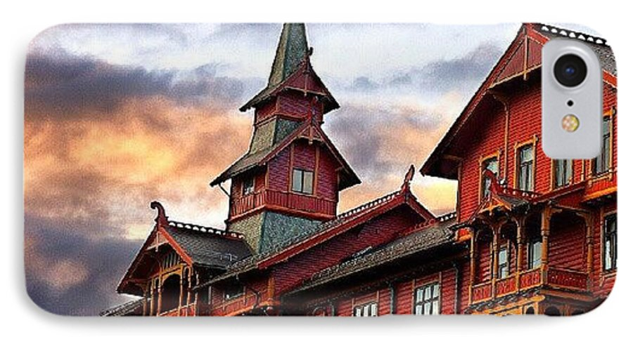 House IPhone 7 Case featuring the photograph Holmenkollen Hotell by Torbjorn Schei