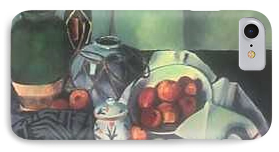 Still Life With Apples IPhone 7 Case featuring the painting Homage To Cezanne by Steven Casey