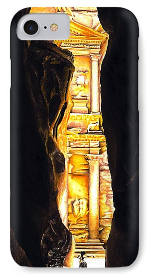 Bellydancer IPhone 7 Case featuring the painting Homage To Petra by Richard Young