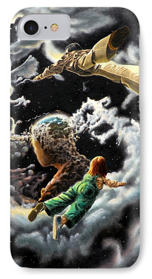 Fantasy IPhone 7 Case featuring the painting Homecoming by Dave Martsolf