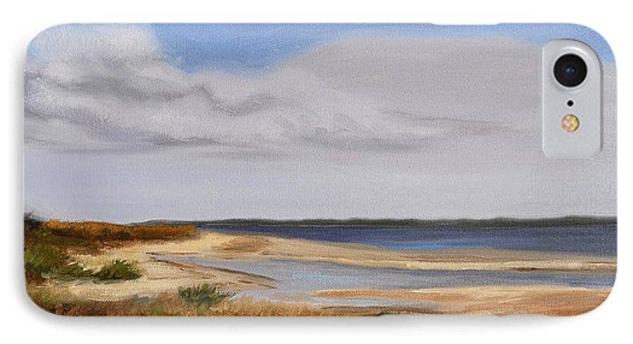 Landscape IPhone 7 Case featuring the painting Honeymoon Island by Greg Neal