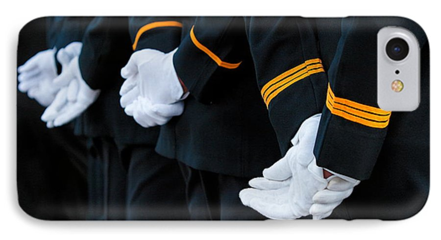 Military IPhone 7 Case featuring the photograph Honor Guard by Lone Dakota Photography