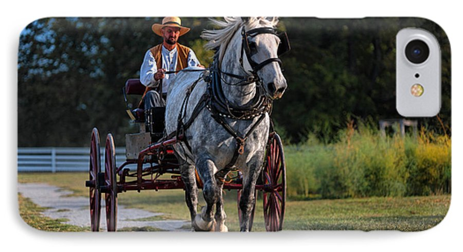 Horse IPhone 7 Case featuring the photograph Horse And Buggy by Lone Dakota Photography