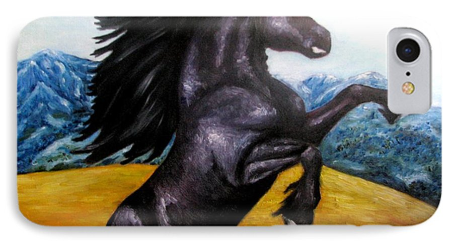 Horse IPhone 7 Case featuring the painting Horse Oil Painting by Natalja Picugina