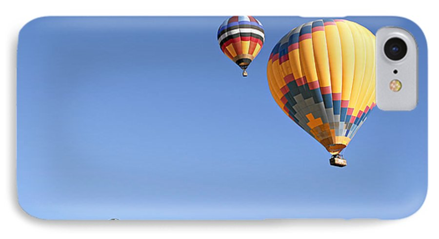 Balloons IPhone 7 Case featuring the photograph Hot Air Balloon Ride A Special Adventure by Christine Till