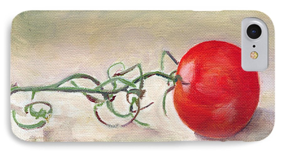Food IPhone 7 Case featuring the painting Hot-house Tomato by Sarah Lynch