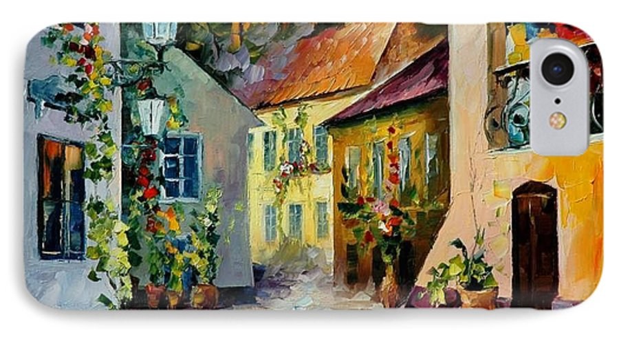 Landscape IPhone 7 Case featuring the painting Hot Noon Original Oil Painting by Leonid Afremov