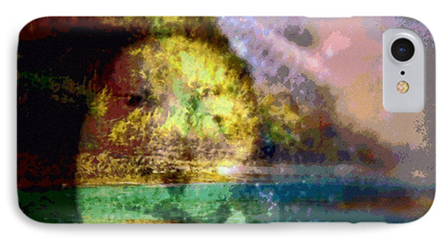 Tropical Interior Design IPhone 7 Case featuring the photograph I Ini O Ka Naau by Kenneth Grzesik
