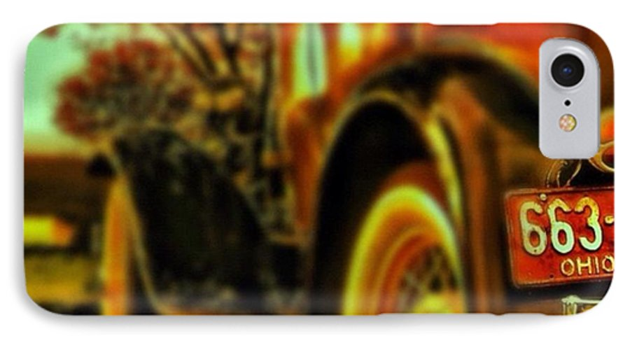 Popularpic IPhone 7 Case featuring the photograph I Love This #classiccar Photo I Took In by Pete Michaud