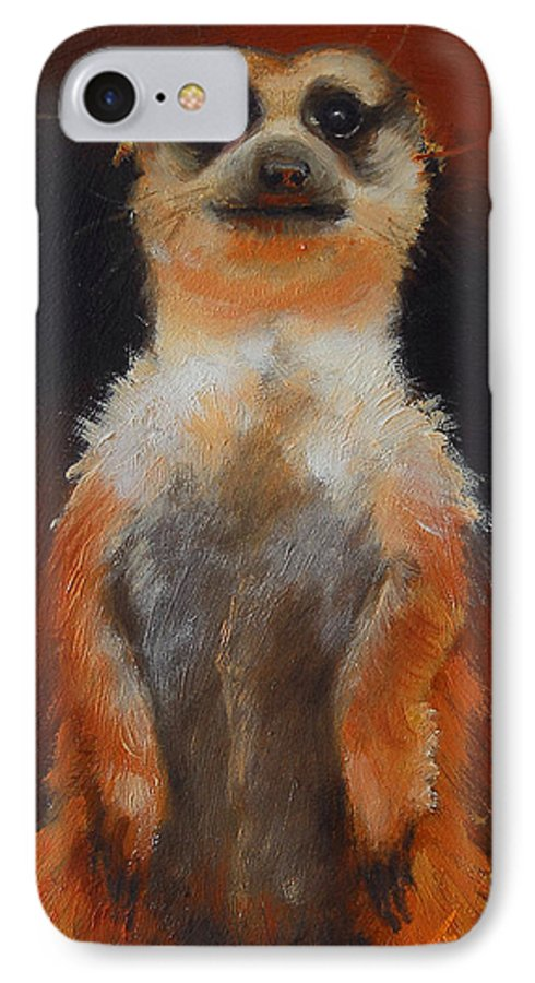 Oil IPhone 7 Case featuring the painting I See You Too by Greg Neal