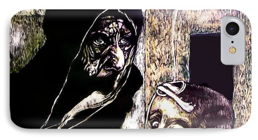 Darfur IPhone 7 Case featuring the mixed media Ibhabitants Of The Precipice by Chester Elmore