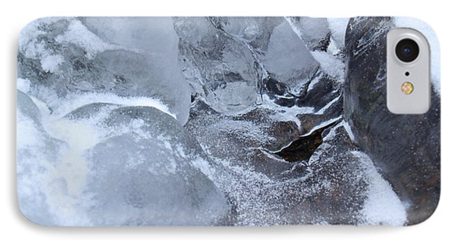 Snow IPhone 7 Case featuring the photograph Icy Creek Forms In Pocono Mountains by Anna Lisa Yoder