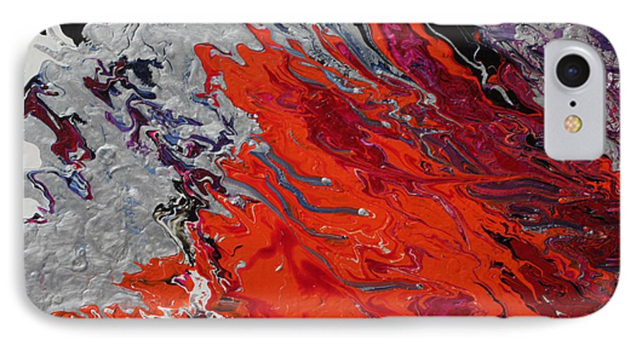 Fusionart IPhone 7 Case featuring the painting Ignition by Ralph White