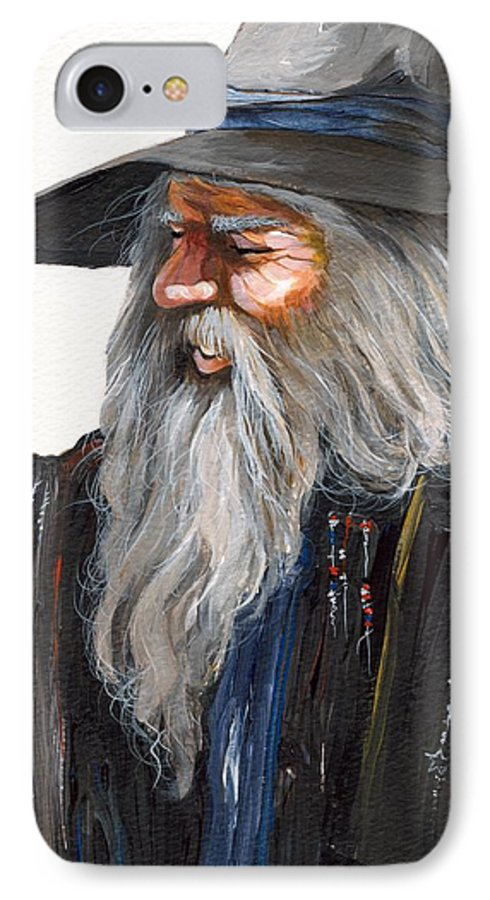 Fantasy Art IPhone 7 Case featuring the painting Impressionist Wizard by J W Baker