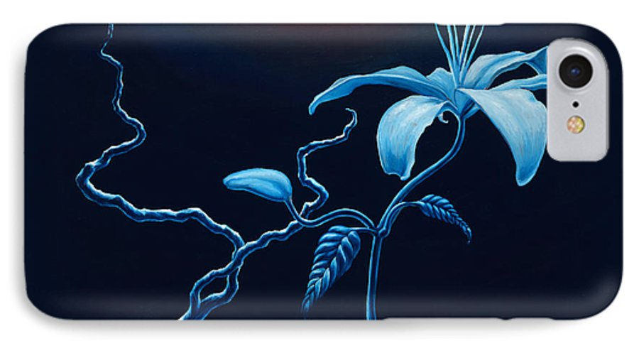 Lily Flower IPhone 7 Case featuring the painting In Memorial by Jennifer McDuffie