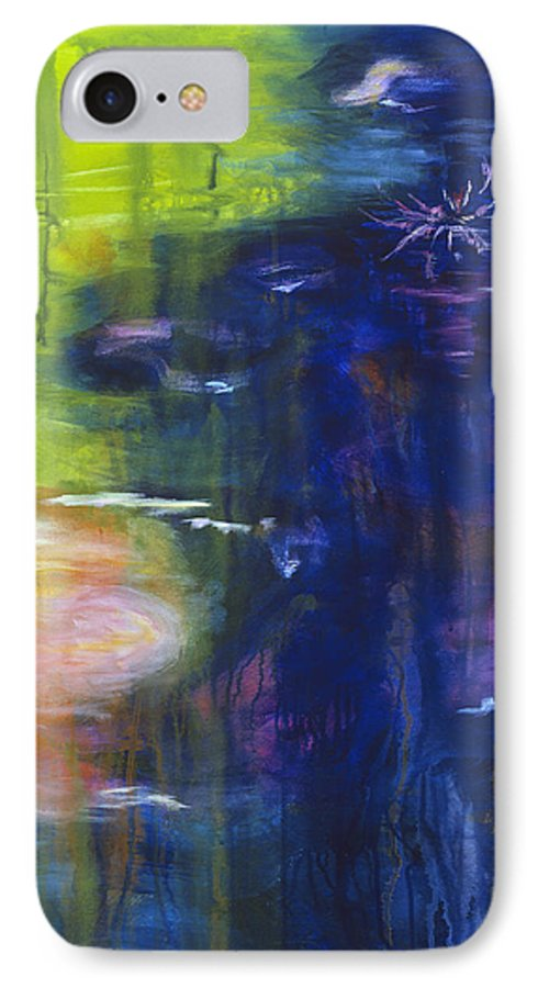 Abstract IPhone 7 Case featuring the painting In The Flow by Tara Moorman