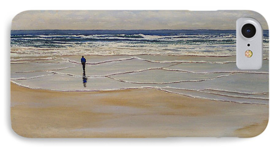 Beach Walk IPhone 7 Case featuring the painting Incoming Tide by Frank Wilson