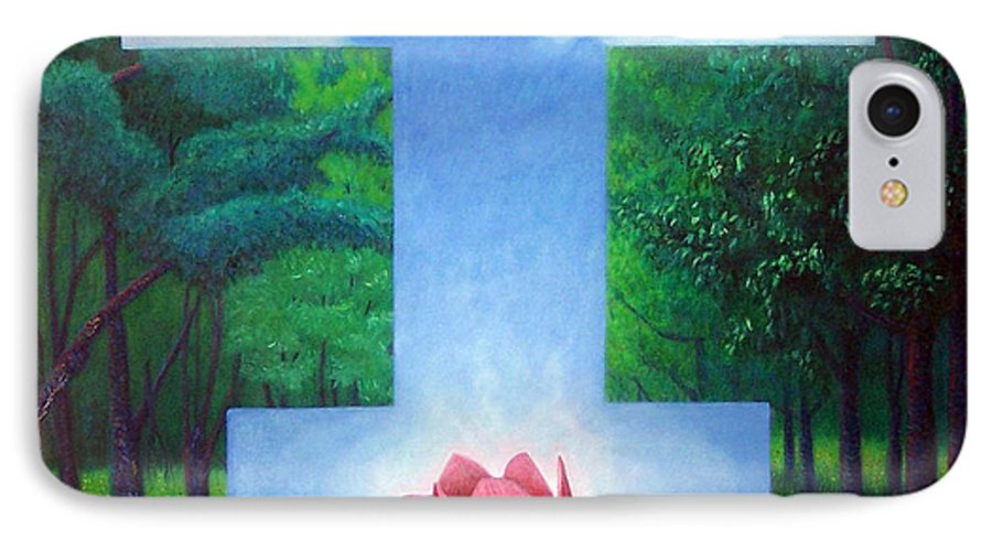 Spiritual IPhone 7 Case featuring the painting Inner Bliss by Brian Commerford