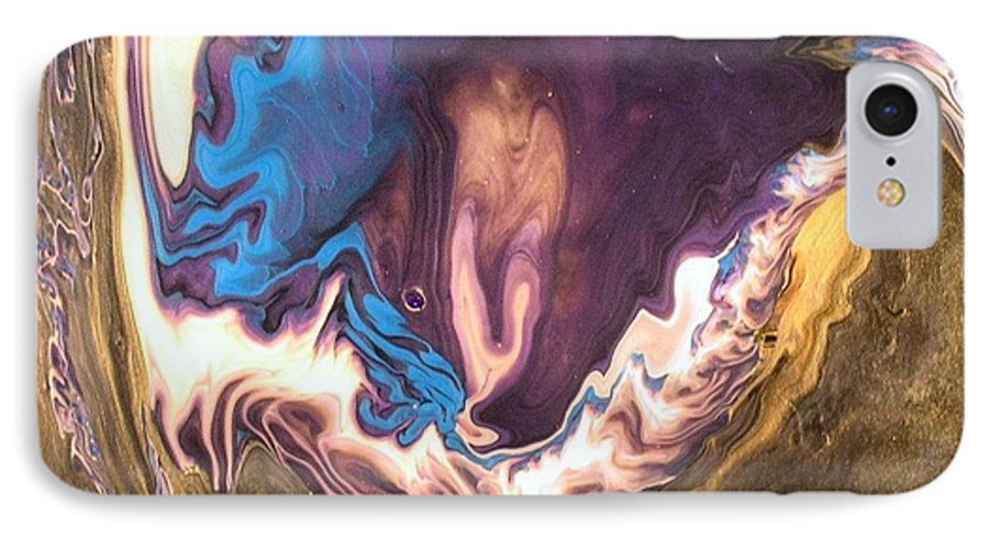 Abstract IPhone 7 Case featuring the painting Inner Flame by Patrick Mock