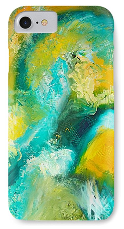 Inside A Wave IPhone 7 Case featuring the painting Inside The Wave by Toni Daniel