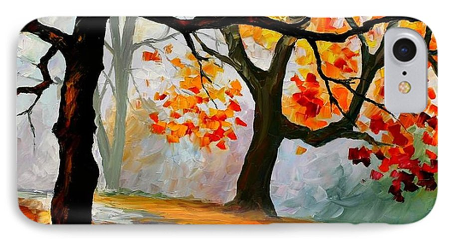 Landscape IPhone 7 Case featuring the painting Interplacement by Leonid Afremov