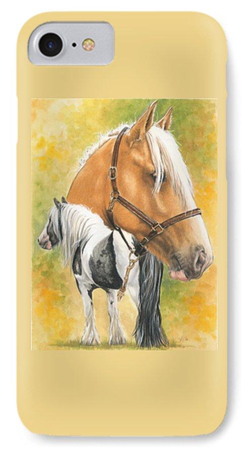 Draft Horse IPhone 7 Case featuring the mixed media Irish Cob by Barbara Keith